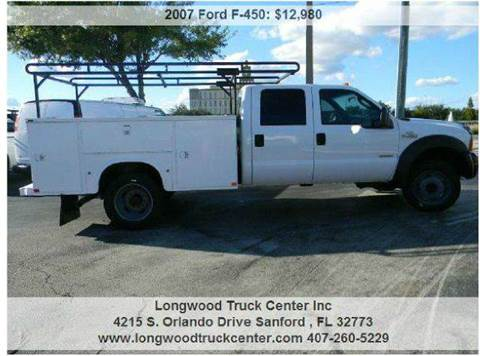 2007 Ford F-450 for sale at Longwood Truck Center Inc in Sanford FL