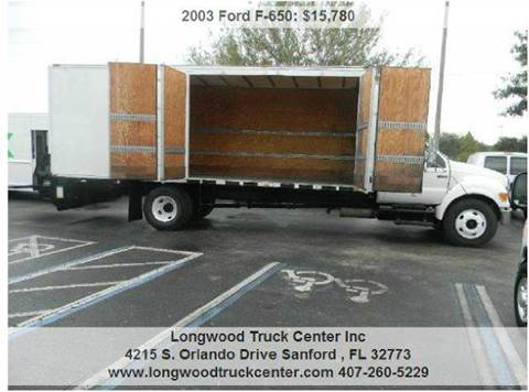 2003 Ford F-650 for sale at Longwood Truck Center Inc in Sanford FL