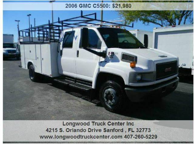2006 GMC C5500 for sale at Longwood Truck Center Inc in Sanford FL