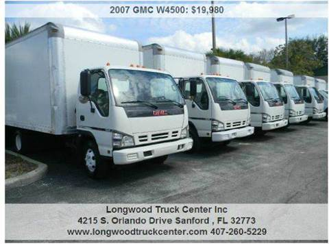 2007 GMC W4500 for sale at Longwood Truck Center Inc in Sanford FL