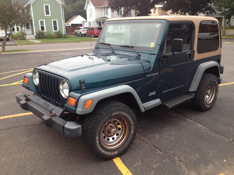1998 Jeep Wrangler for sale at CENTRAL AUTO SALES LLC in Norwich NY