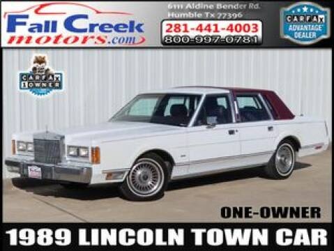 1989 Lincoln Town Car for sale at Fall Creek Motor Cars in Humble TX