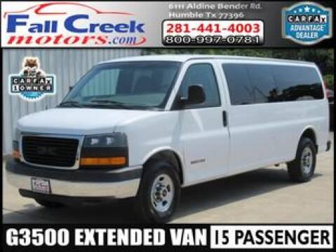 2003 GMC Savana Passenger for sale at Fall Creek Motor Cars in Humble TX