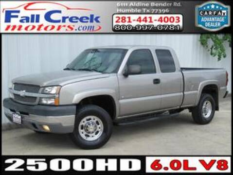 2003 Chevrolet Silverado 2500HD for sale at Fall Creek Motor Cars in Humble TX
