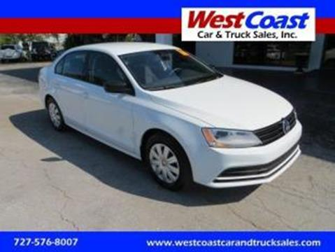 2016 Volkswagen Jetta for sale at West Coast Car & Truck Sales Inc. in Saint Petersburg FL