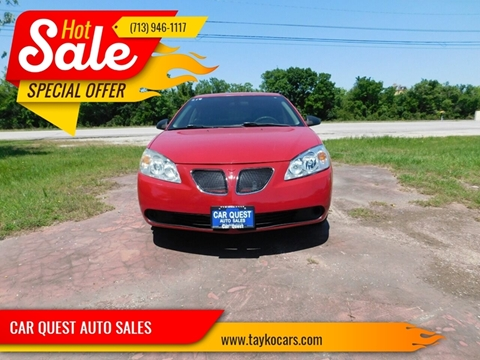 2007 Pontiac G6 For Sale In Houston Tx