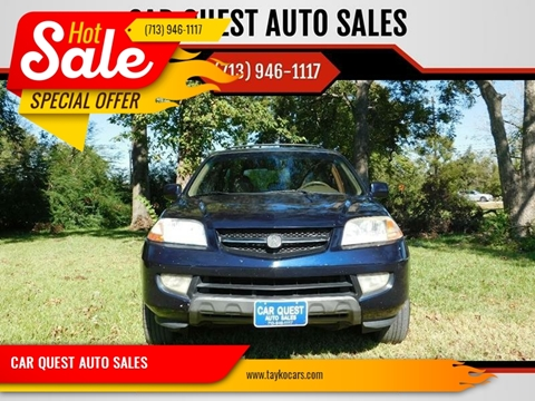 2003 Acura MDX Touring w/Navi w/RES for sale at CAR QUEST AUTO SALES in Houston TX