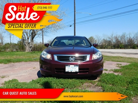 2010 Honda Accord EX for sale at CAR QUEST AUTO SALES in Houston TX