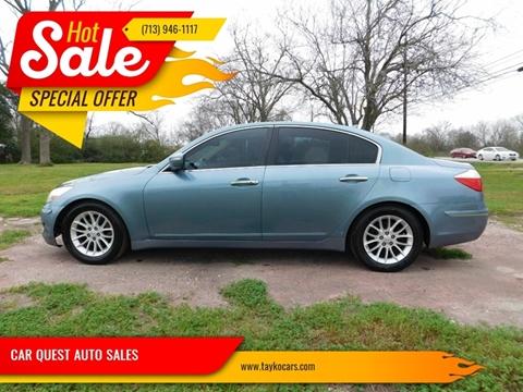 2011 Hyundai Genesis 3.8L V6 for sale at CAR QUEST AUTO SALES in Houston TX