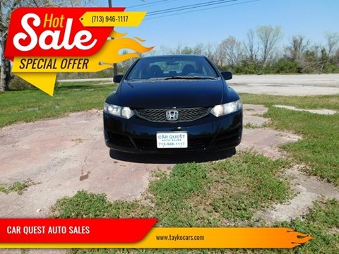 2010 Honda Civic for sale at CAR QUEST AUTO SALES in Houston TX