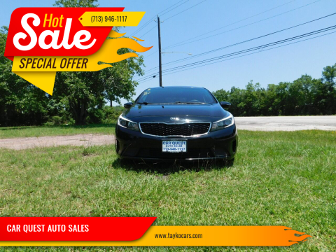 2017 Kia Forte5 for sale at CAR QUEST AUTO SALES in Houston TX