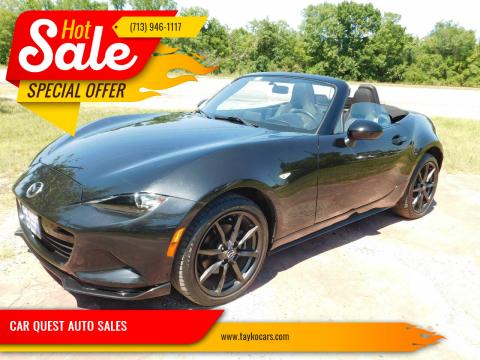 2016 Mazda MX-5 Miata for sale at CAR QUEST AUTO SALES in Houston TX