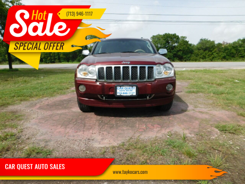 2006 Jeep Grand Cherokee for sale at CAR QUEST AUTO SALES in Houston TX