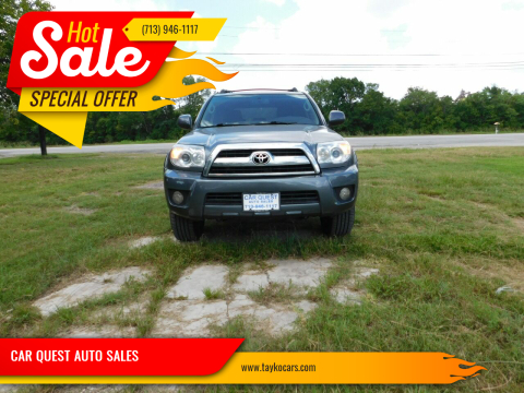 2006 Toyota 4Runner for sale at CAR QUEST AUTO SALES in Houston TX