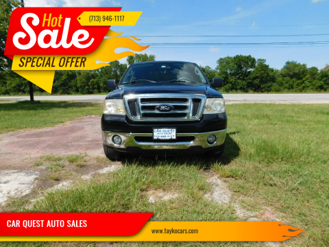 2008 Ford F-150 for sale at CAR QUEST AUTO SALES in Houston TX