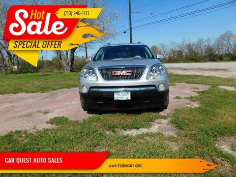 2012 GMC Acadia for sale at CAR QUEST AUTO SALES in Houston TX