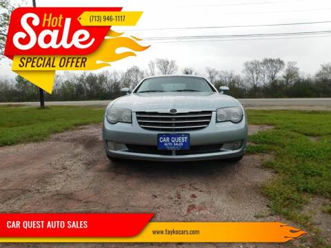2007 Chrysler Crossfire for sale at CAR QUEST AUTO SALES in Houston TX