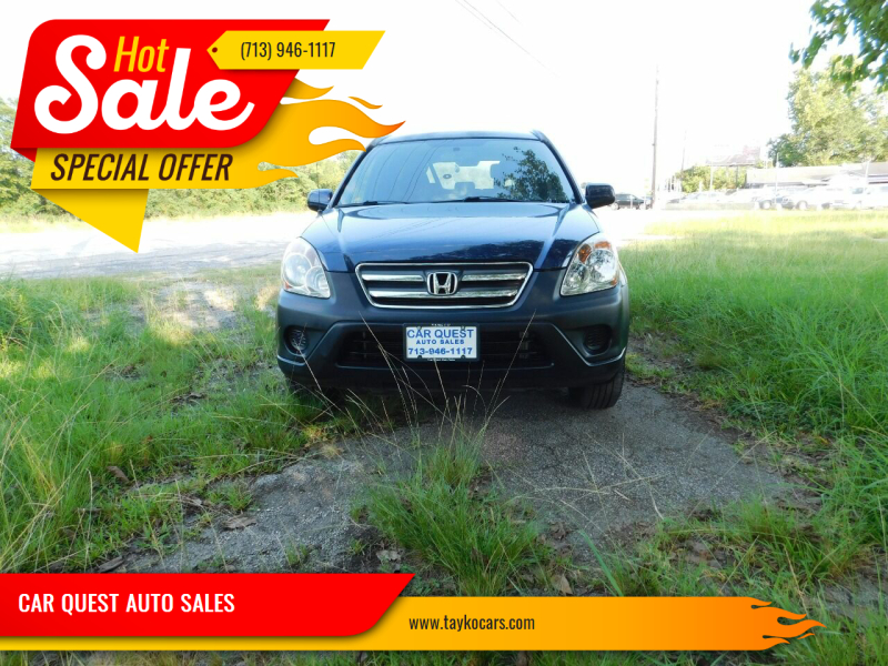 2006 Honda CR-V for sale at CAR QUEST AUTO SALES in Houston TX