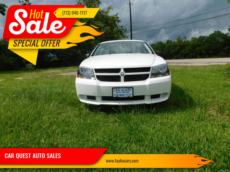 2010 Dodge Avenger for sale at CAR QUEST AUTO SALES in Houston TX