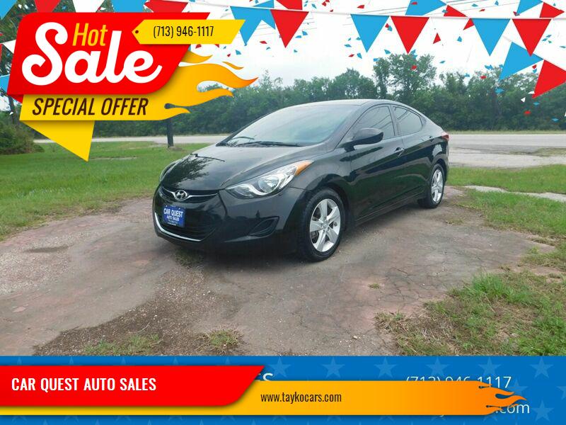 2013 Hyundai Elantra for sale at CAR QUEST AUTO SALES in Houston TX