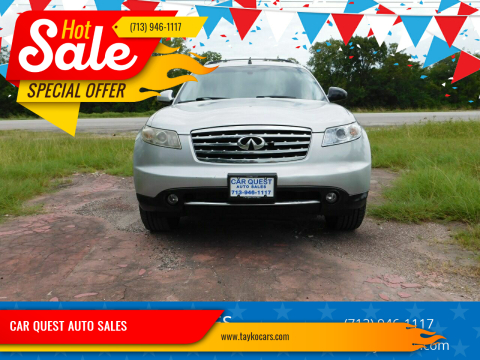 2008 Infiniti FX35 for sale at CAR QUEST AUTO SALES in Houston TX