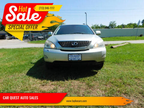 2007 Lexus RX 350 for sale at CAR QUEST AUTO SALES in Houston TX