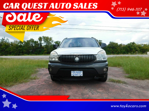2002 Buick Rendezvous for sale at CAR QUEST AUTO SALES in Houston TX