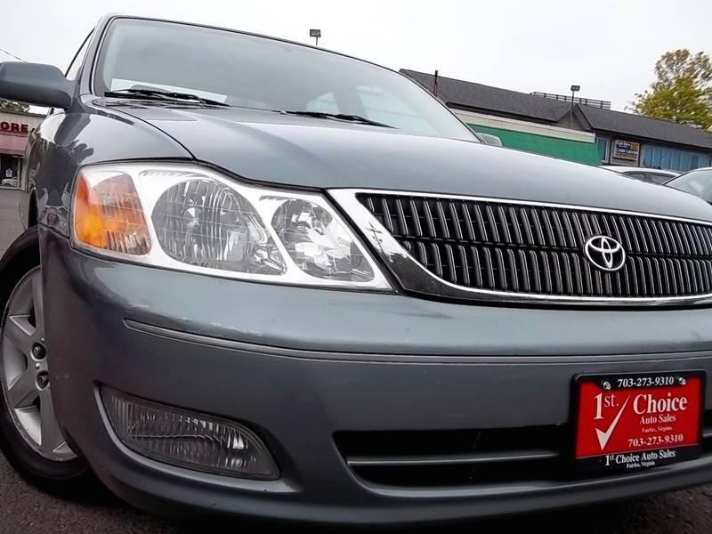 2001 Toyota Avalon XLS 4dr Sedan W/Bucket Seats   Fairfax VA