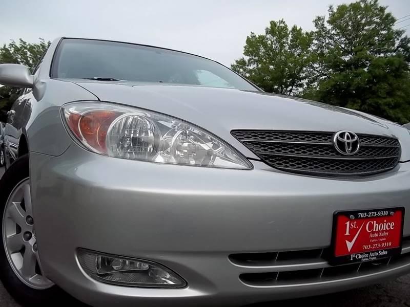 2004 Toyota Camry Xle 4dr Sedan In Fairfax Va 1st Choice Auto Sales