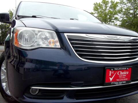 2013 Chrysler Town and Country for sale at 1st Choice Auto Sales in Fairfax VA
