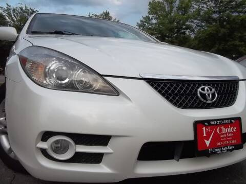 2008 Toyota Camry Solara for sale at 1st Choice Auto Sales in Fairfax VA