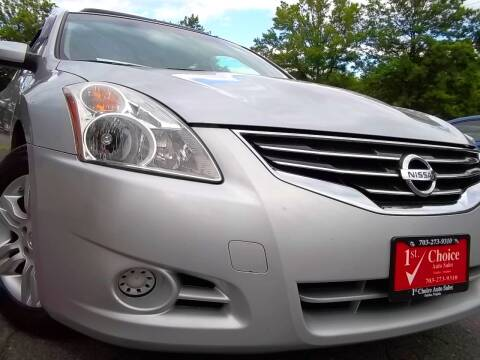 2012 Nissan Altima for sale at 1st Choice Auto Sales in Fairfax VA