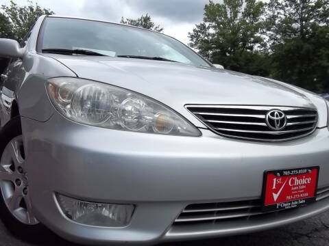 2005 Toyota Camry for sale at 1st Choice Auto Sales in Fairfax VA