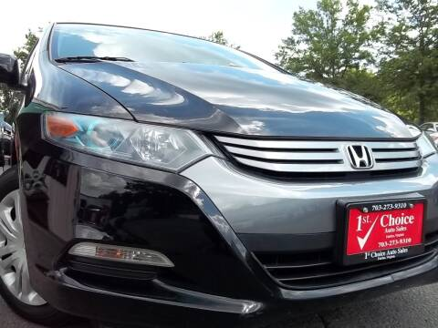2010 Honda Insight for sale at 1st Choice Auto Sales in Fairfax VA