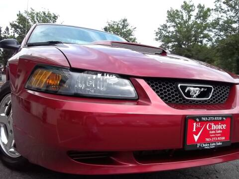 2004 Ford Mustang for sale at 1st Choice Auto Sales in Fairfax VA