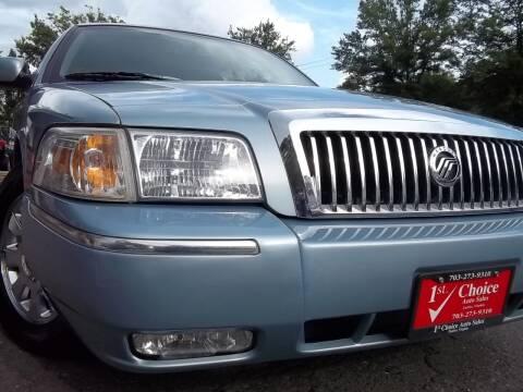 2007 Mercury Grand Marquis for sale at 1st Choice Auto Sales in Fairfax VA