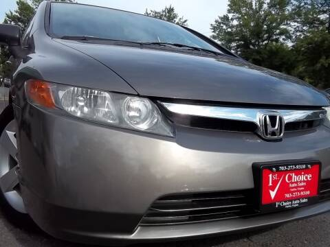 2008 Honda Civic for sale at 1st Choice Auto Sales in Fairfax VA