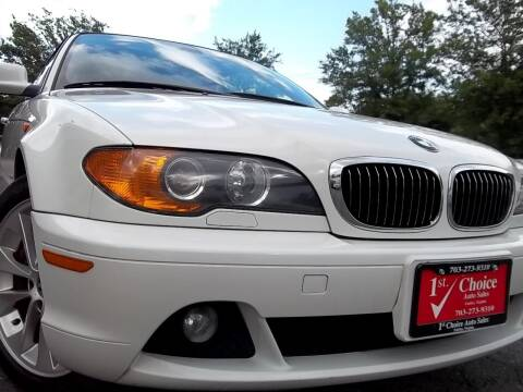 2004 BMW 3 Series for sale at 1st Choice Auto Sales in Fairfax VA