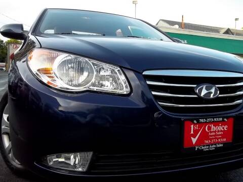 2010 Hyundai Elantra for sale at 1st Choice Auto Sales in Fairfax VA