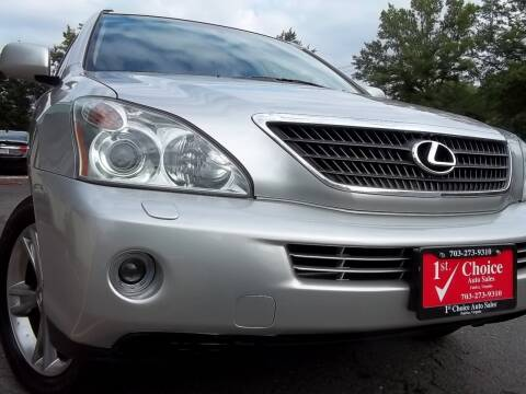 2006 Lexus RX 400h for sale at 1st Choice Auto Sales in Fairfax VA