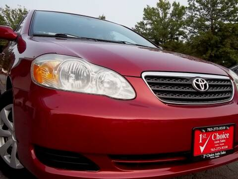 2006 Toyota Corolla for sale at 1st Choice Auto Sales in Fairfax VA