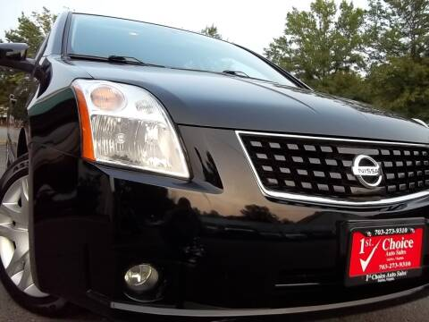 2009 Nissan Sentra for sale at 1st Choice Auto Sales in Fairfax VA