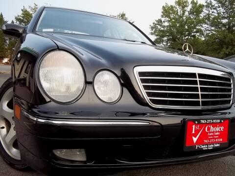 2002 Mercedes-Benz E-Class for sale at 1st Choice Auto Sales in Fairfax VA