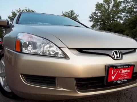 2003 Honda Accord for sale at 1st Choice Auto Sales in Fairfax VA