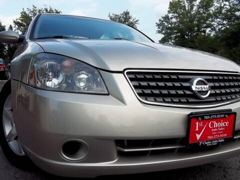 2005 Nissan Altima for sale at 1st Choice Auto Sales in Fairfax VA