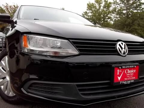 2012 Volkswagen Jetta for sale at 1st Choice Auto Sales in Fairfax VA