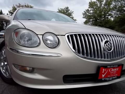 2009 Buick LaCrosse for sale at 1st Choice Auto Sales in Fairfax VA