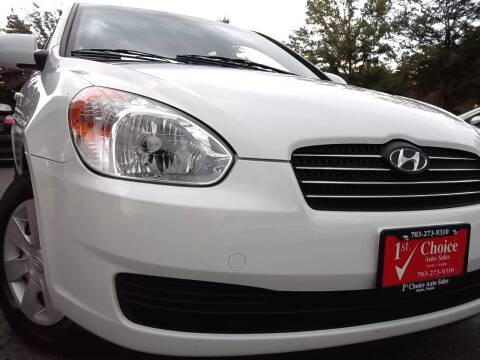 2006 Hyundai Accent for sale at 1st Choice Auto Sales in Fairfax VA