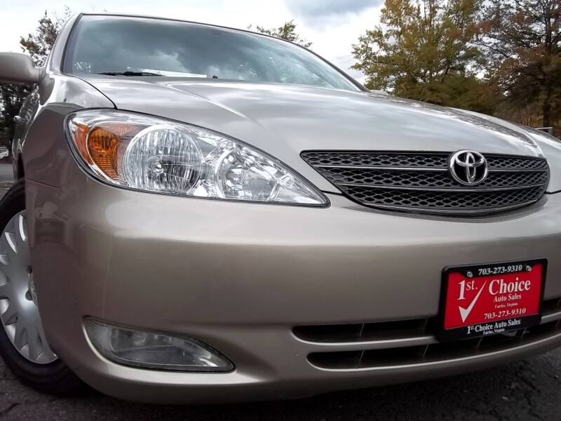 2004 Toyota Camry for sale at 1st Choice Auto Sales in Fairfax VA
