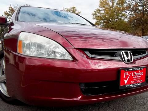 2005 Honda Accord for sale at 1st Choice Auto Sales in Fairfax VA